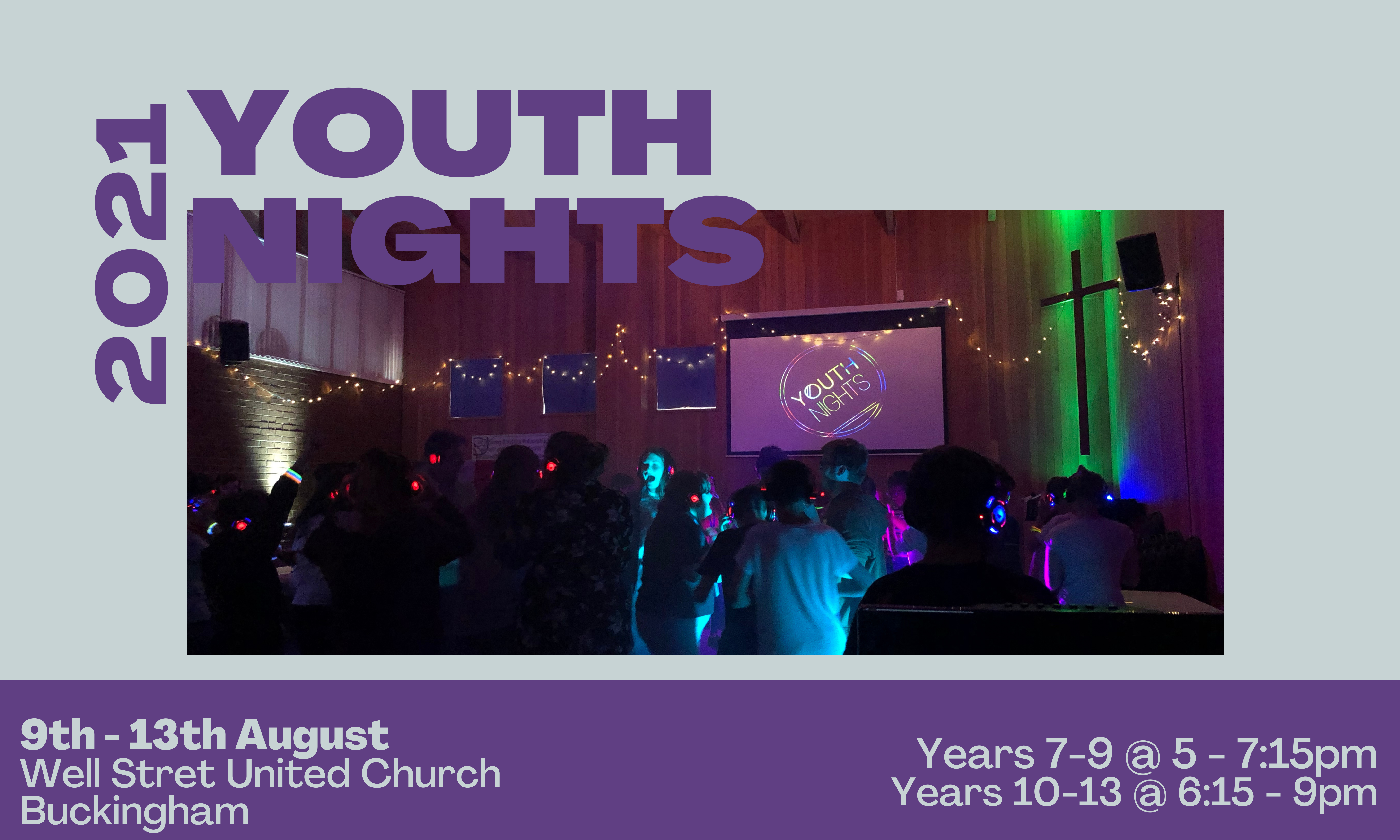 Youth Nights '21 Website Banne
